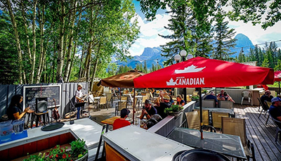 White Wolf Rafting, Canmore - Best Patios - The Rose & Crown